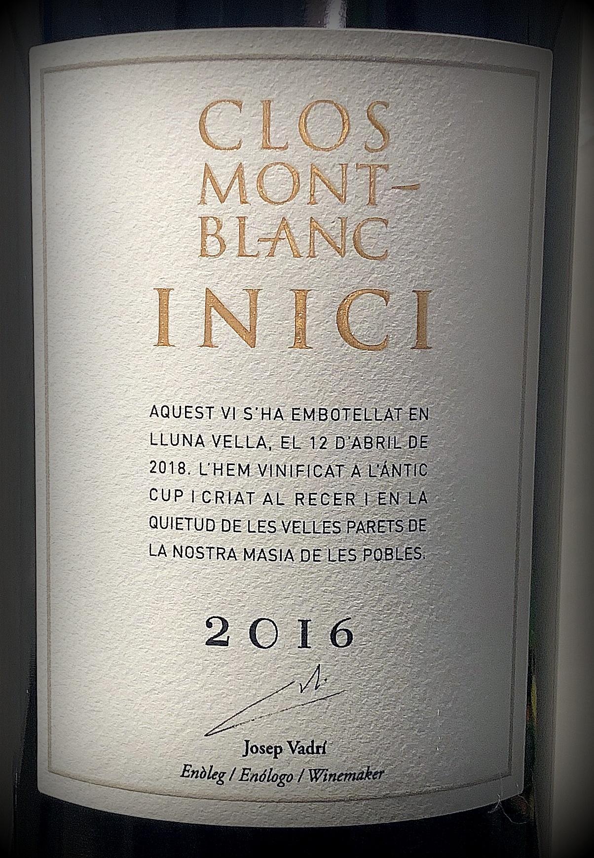 Clos Montblanc Inici